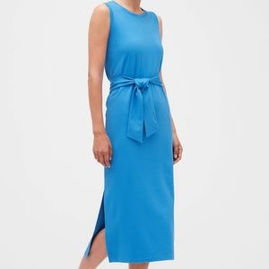 NWT! Banana republic Tie-waist column midi dress